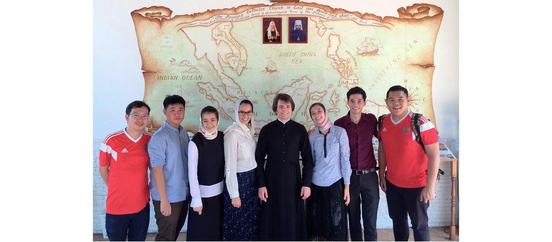 Студент МДА проходил богослужебную практику первой Постной седмицы в Сингапуре