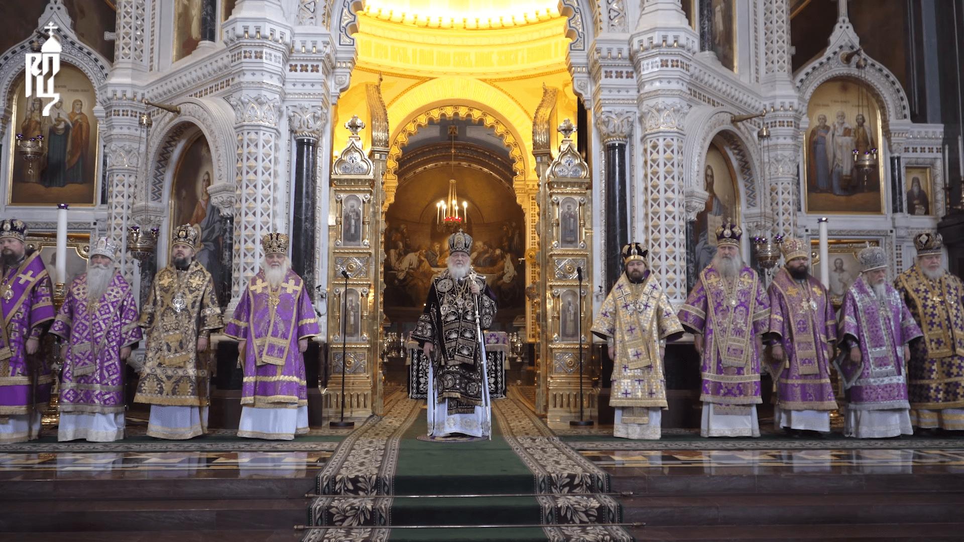 В Великий Четверток архиепископ Верейский Амвросий сослужил Святейшему Патриарху Кириллу за Божественной литургией в Храме Христа Спасителя