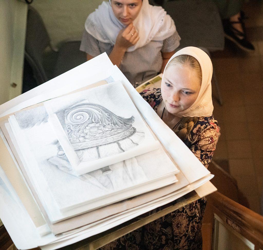 Абитуриенты Иконописного отделения представили свои работы